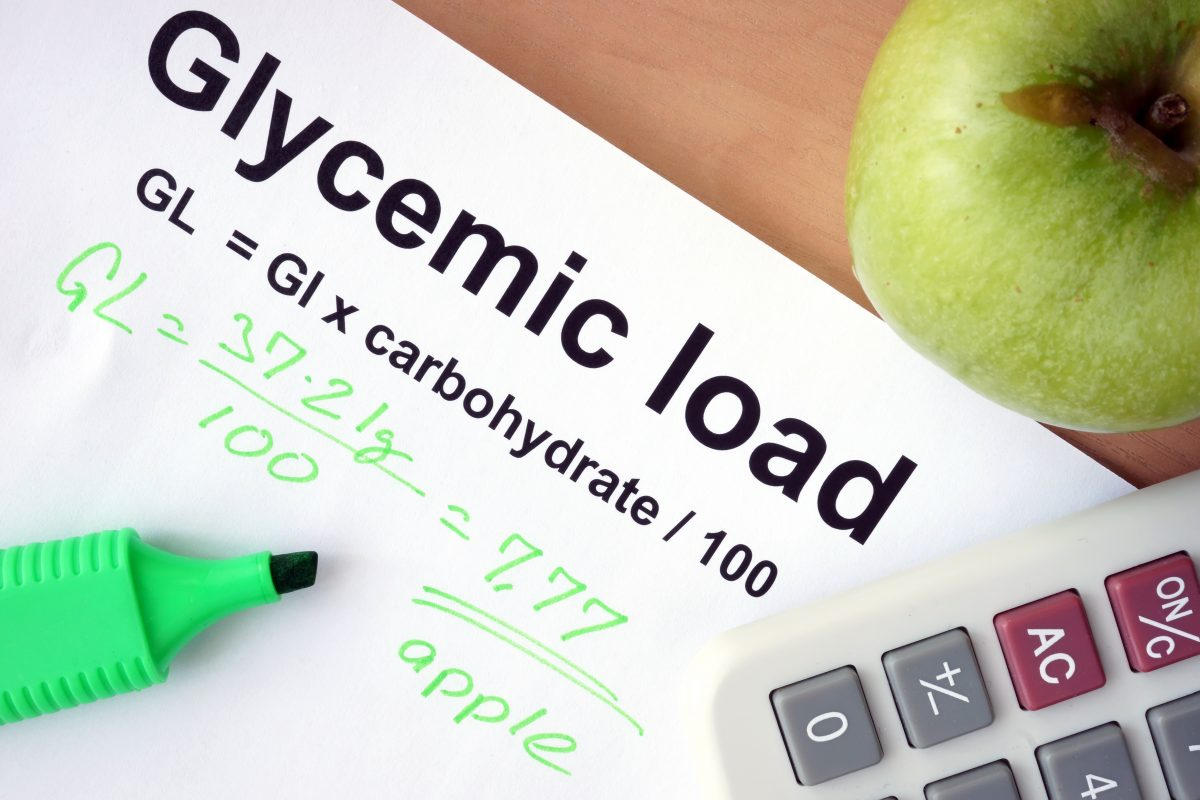 Paper with  glycemic load formula.